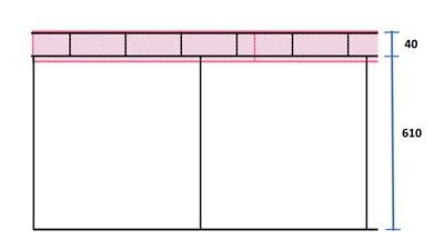 s-防蟻笠木 断面図